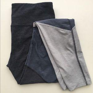 C9 Champion Blue Color Block Crop Leggings Size S
